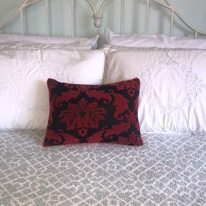 Embossed Home Accent Pillow Red Black